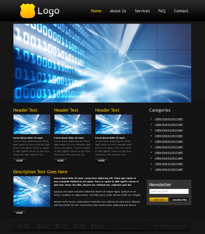 media website templates